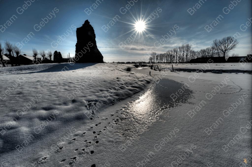 Bram Gebuys Oudewater Kasteelmuur winter 1